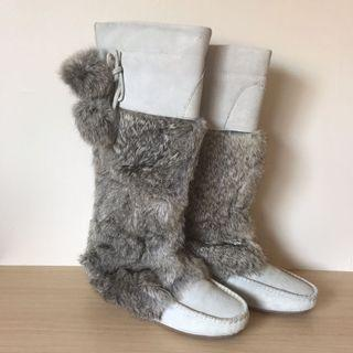 *as NEW* Fur suede leather boots size 35
