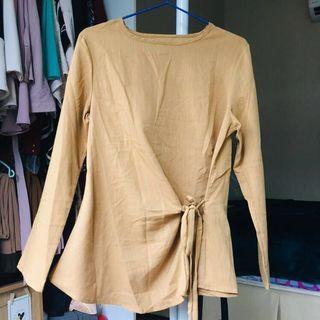*New* Dark Khaki Wrap Blouse #JuneToGo