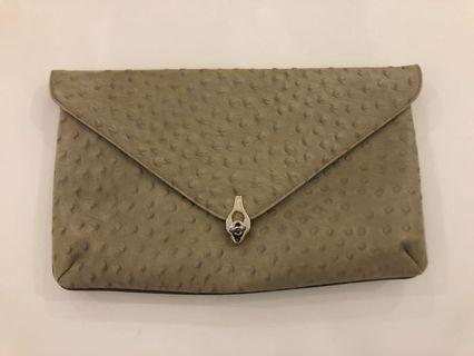 Vintage Ostrich Leather Clutch