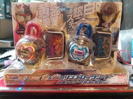 中古 絕版 幪面超人 鎧武 DX 金&銀 蘋果 lock seed Kamen Rider Gaim (日版)