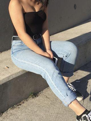 Urban outfitters High rise blue mom jeans