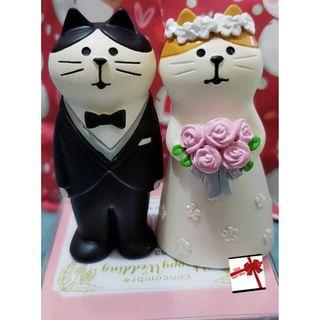 【現貨】日本直送 DECOLE旗下Concombre推出的Happy Wedding洋服貓婚禮公仔擺飾
