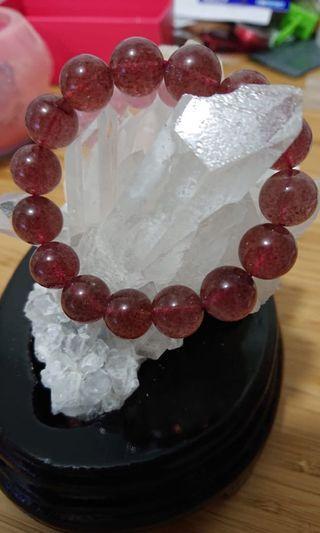 12mm 草莓晶 水晶手串