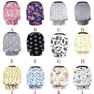 Baby Car Seat Canopy Cover Breasfeeding Nursing Cover Scarf