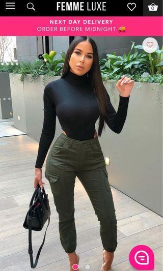 Black Long Sleeve Side Cut Bodysuit - Zoey (FemmeLuxeFinery)