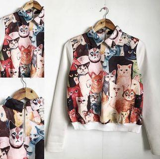 cats collared longsleeve