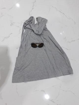 grey midi dresz