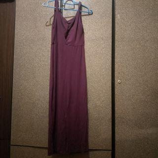 Purple bare back long dress