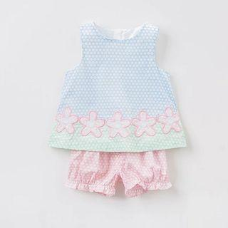 [Free Shipping] New with tag! Premium Branded Dave & Bella Baby Girl Summer Sleeveless Set (3T)