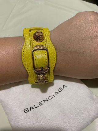 "Balenciaga Giant Gold Bracelet Lambskin bracelet with ""giant"" hardware"