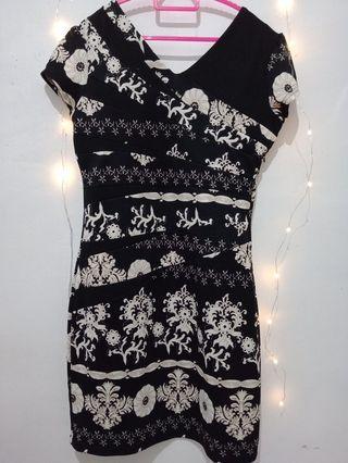 Black mini dress boho
