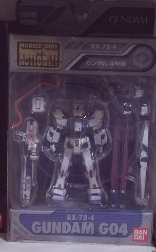 Gundam G04(RX-78-4) Mobile Suit in Action!!(99%新)
