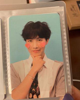 wts bts jhope photocard