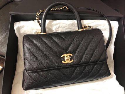 全新 Chanel Coco Handle 24 黑金