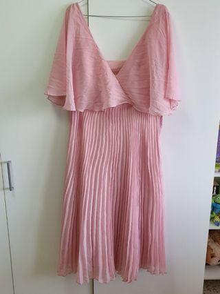 ASOS pink flutter dress
