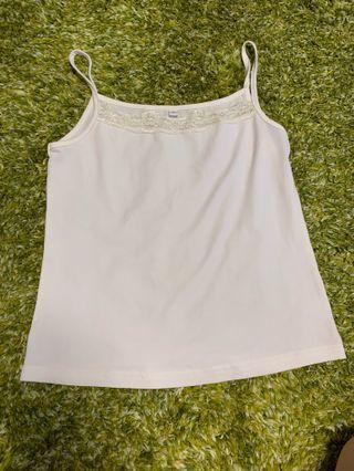 女裝白色吊帶背心襯衫 Ladies top
