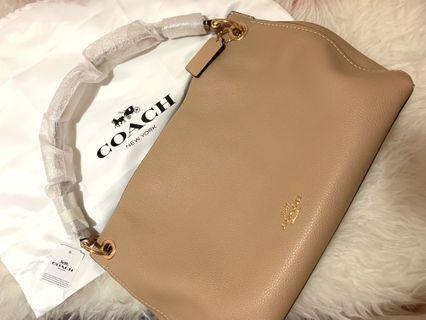 100%Real and New Coach Handbag 卡其色
