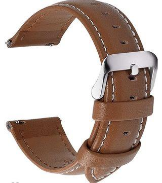 (3494) for Quick Release Leather Watch Band, Fullmosa Axus Genuine Leather Watch Strap