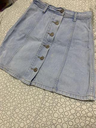 Denim Skirt sixty eight blue