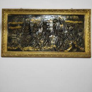 Vintage Metal Sculpted Picture