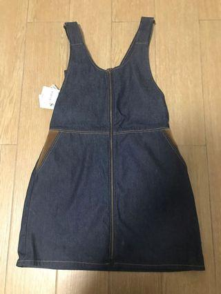 Zara denim mini skirt romper