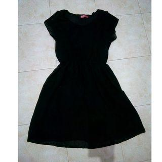 Black Dress hitam fit M-L