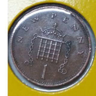 Vintage Queen Elizabeth II One New Pence 1971 ( 3 units)