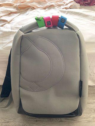 Riutbag 10 Grey Super Slim Laptop Backpack