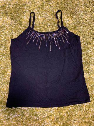 女裝黑色吊帶背心 Ladies top (black)
