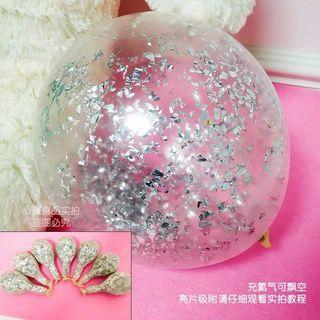 銀色閃粉氣球6個 Silver flash ballon x6