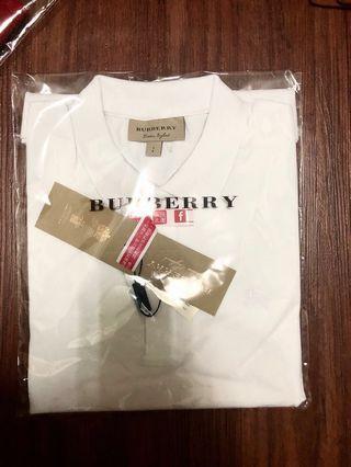「全新兩件」Burberry polo衫,紅、白