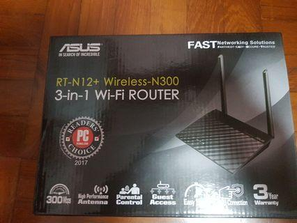 Asus RT-N12 wifi router 全新未開封