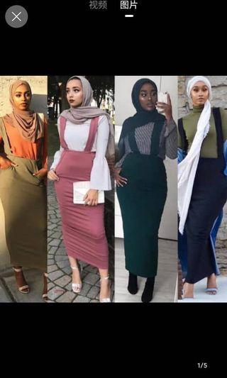 Muslimah wear half length skirt available in 5 different colors