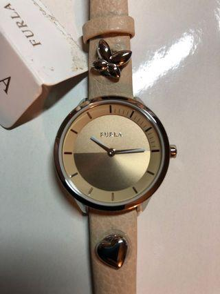 Furla Women's R4251102540 Beige Dial With Cream Leather Calfskin Band Watch