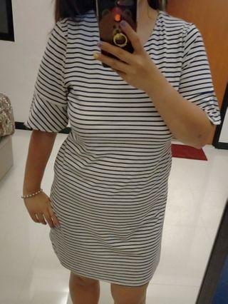 Stripes dress plus size UK 14 to UK 18
