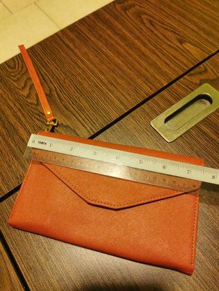 Brown wristlet clutch purse