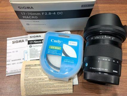 SIGMA 17-70mm F2.8-4 for Canon 二手