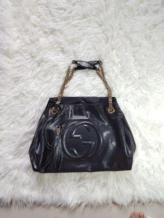 Authentic Gucci Soho Chain Tote GHW