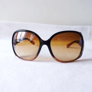 VINCCI咖啡色透明框防曬太陽眼鏡