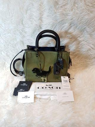 Authentic Coach Rogue 25 green army tyrex