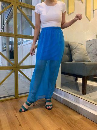 Miss Selfridge blue skirt