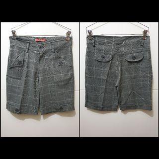 Grey tartan pattern shorts