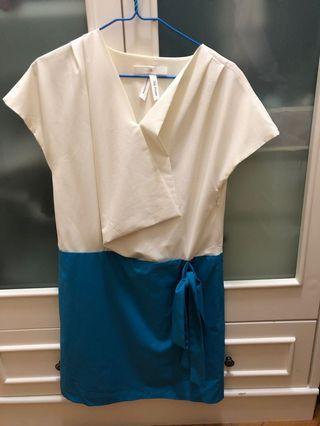 Bread n butter藍白連衣裙