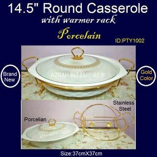 "Buffet Set - 14.5"" Casserole with Warmer - Brand New - Food Tray"