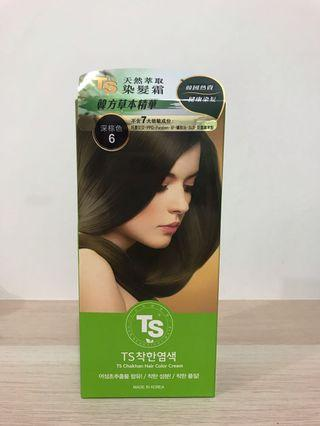 TS 天然萃取染髮劑深棕色