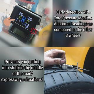 Yoelbauer TPMS / Tyre Tire Pressure Monitoring System (Wireless) TPMS