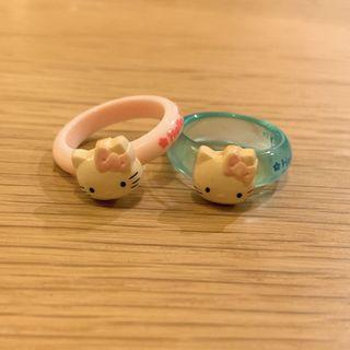 Hello Kitty Rings 懷舊Kitty膠戒指