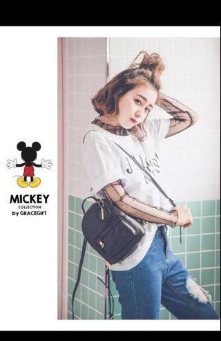🚚 GraceGift Mickey Charm Backpack