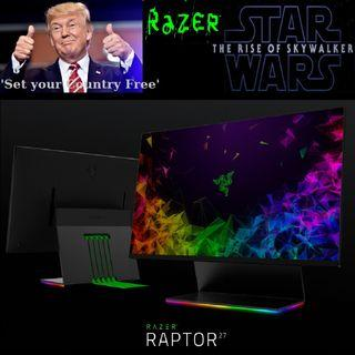 "Razer 27"" Raptor Gaming Monitor 144Hz refresh rate, 1ms  HDR (3Y)..,"