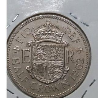 Vintage Queen Elizabeth II Half Crown Coin 1962